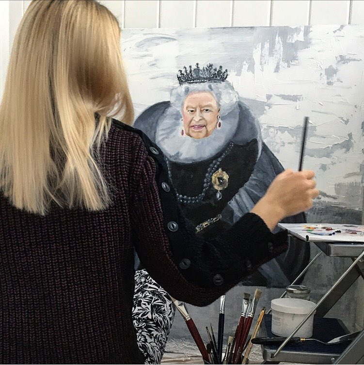 """Maria Petroff art """"Queen"""""""