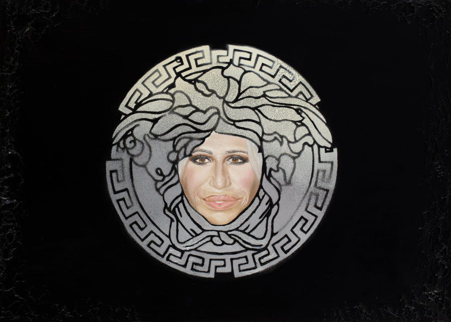 "Maria Petroff oil art work ""Versace head"""