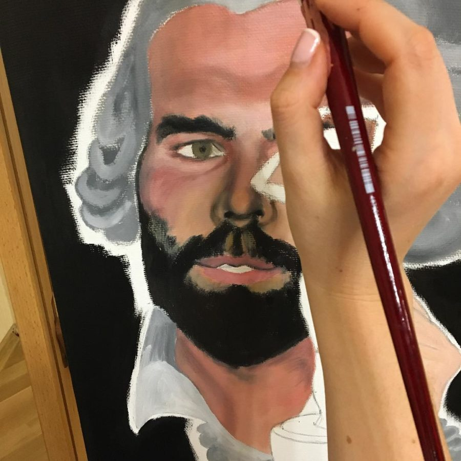 """Maria Petroff oil art """"Casanova"""""""
