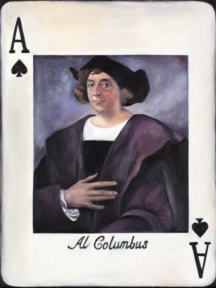 "Maria Petroff oil art painting ""Al Columbus"" 46 x 61 cm, Oil on canvas"