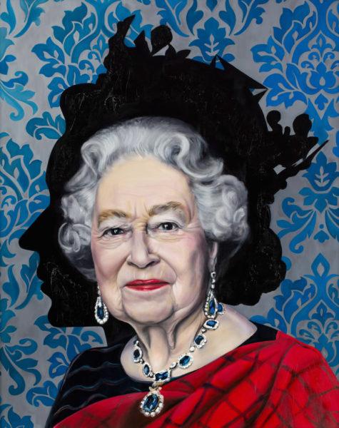 "Maria Petroff oil art work ""Queen"""