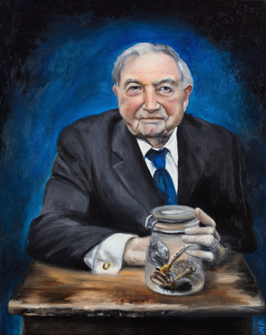 Portraits by Toronto Portrait Painter Maria Petroff — Collector - portrait of David Rockefeller