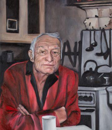 Hugh Hefner — original oil art by Maria Petroff