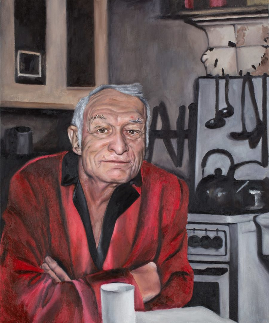 Hugh Hefner — original oil art by Maria Petroff