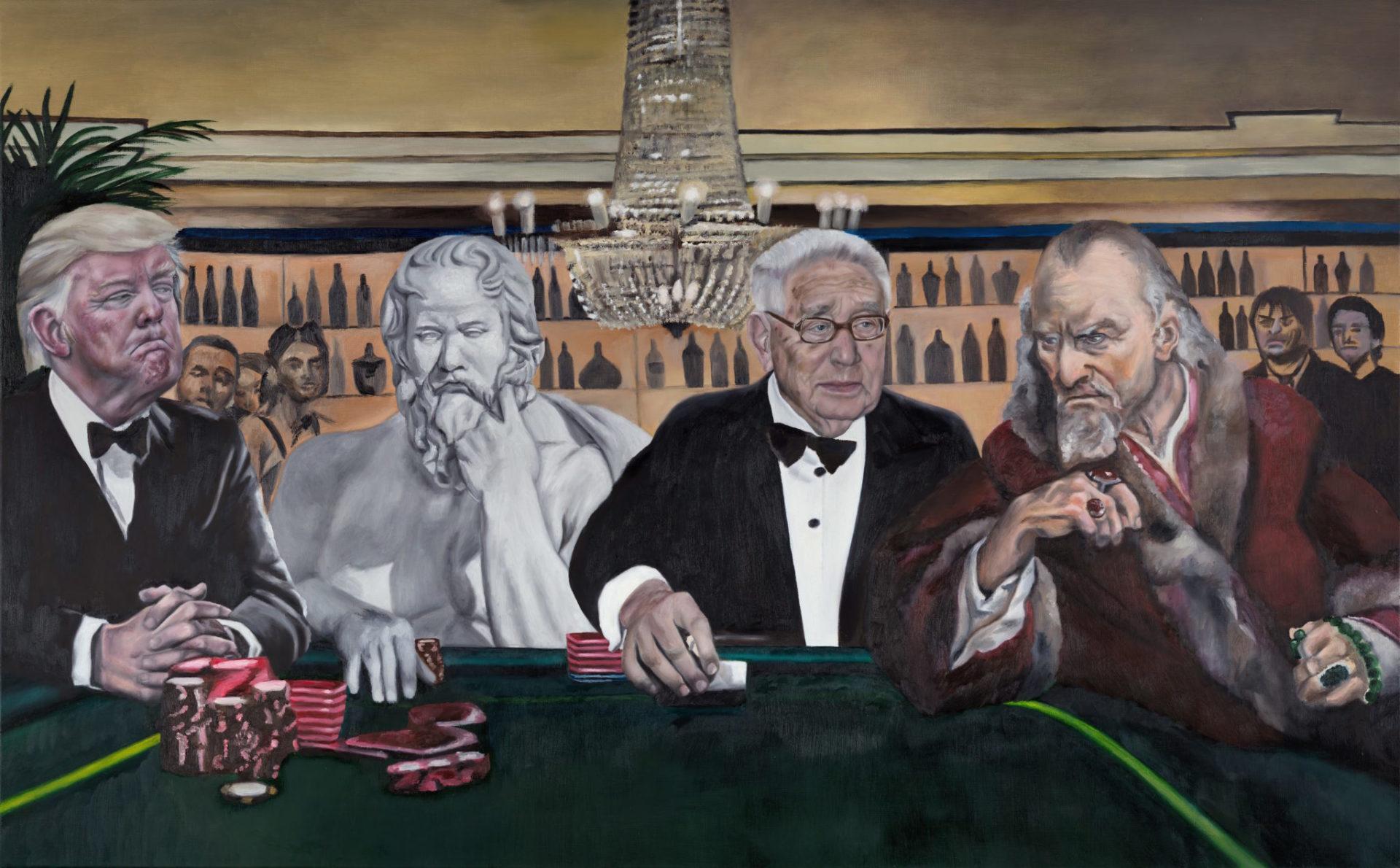 Poker — original oil art by Maria Petroff