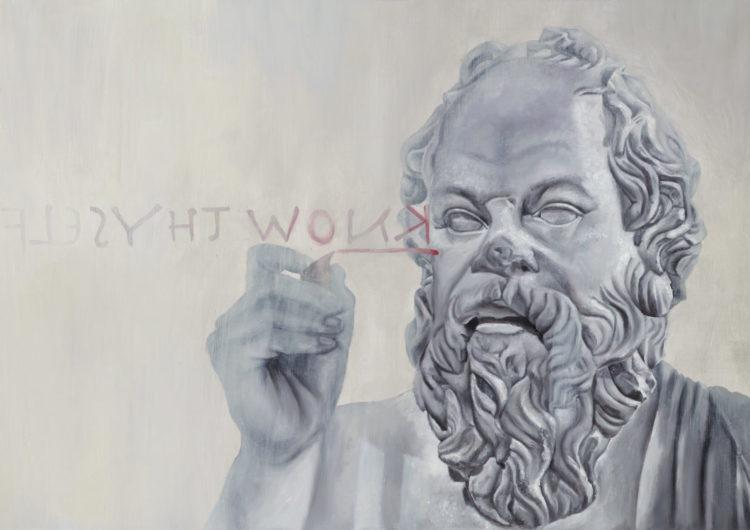 Socrates — original oil art by Maria Petroff