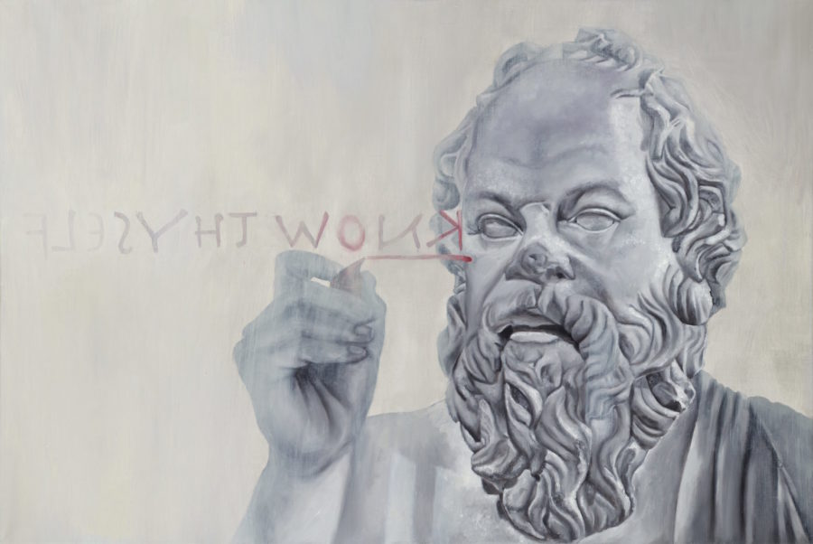Socrates — original oil art by Maria Petroff