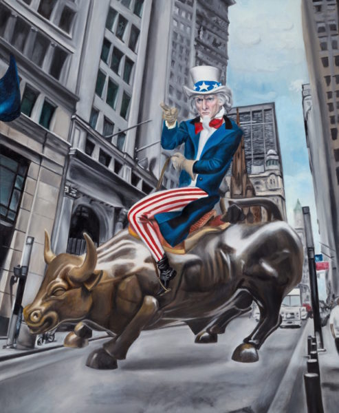 Unclesam — original oil art by Maria Petroff