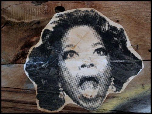 Street sticker art as a way of promoting art